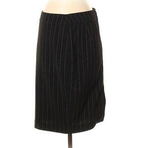 Armani Collezioni Black Striped Skirt